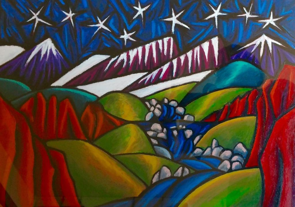 Star Night Rocky Mountains
