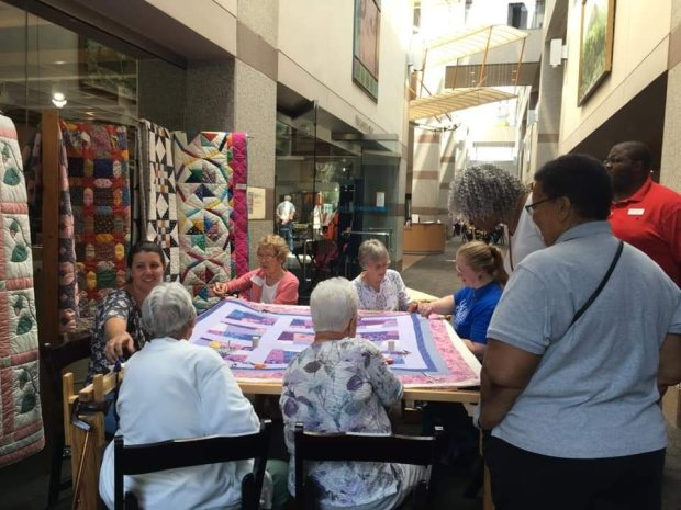 Members of Cedar Grove Quilters at NC Museum of History
