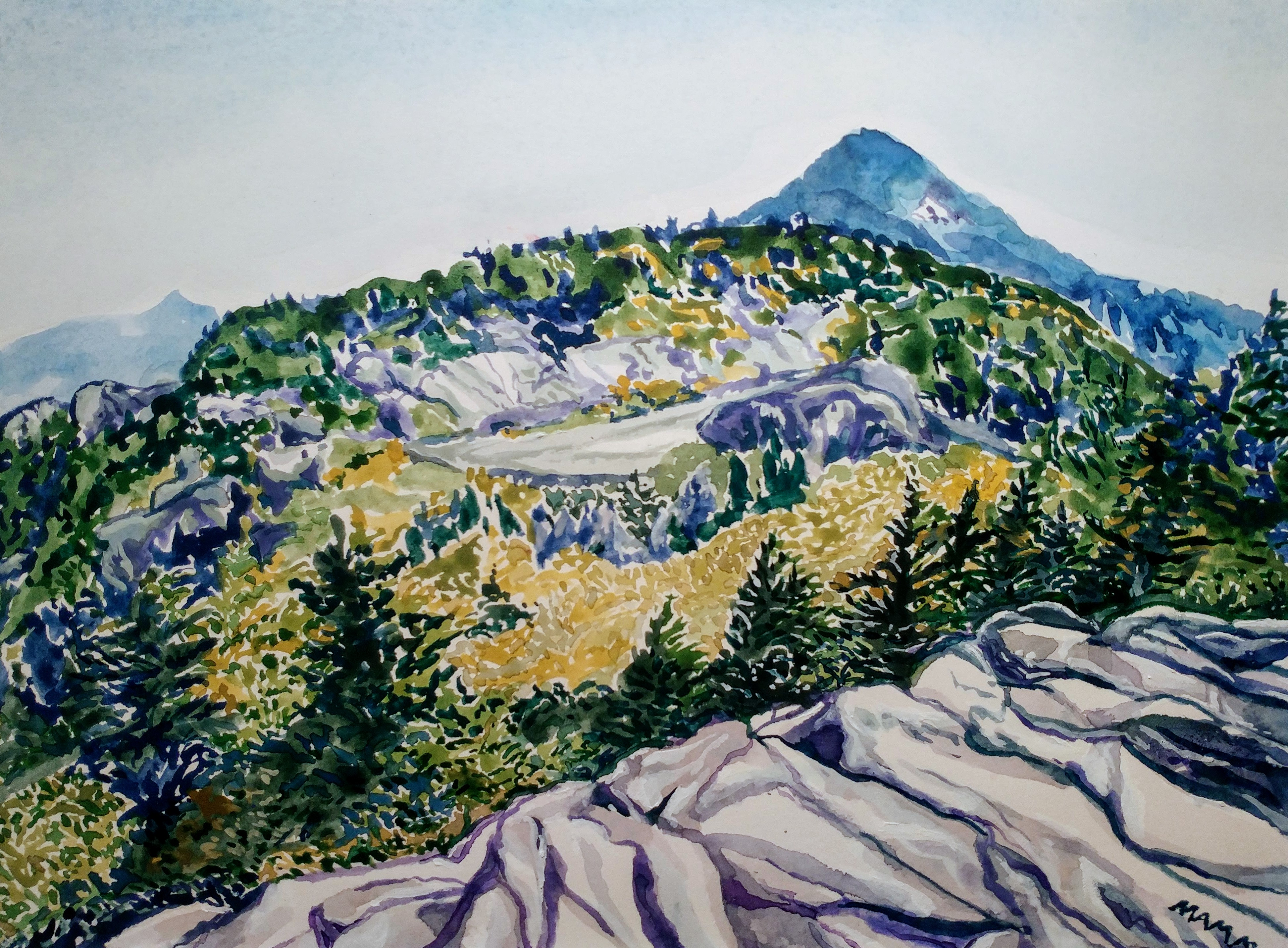 Grandfather Mountain watercolor