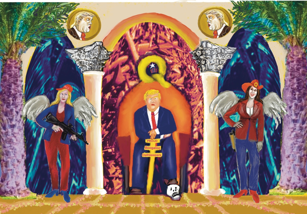 Throne of Guns with Angels